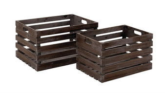 Wood Wine Crates (Set of 2)