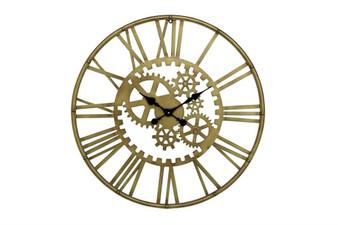 Metal Gold Gear Wall Clock