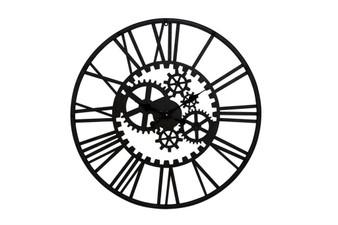 Metal Black Gear Wall Clock