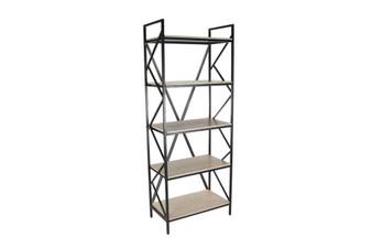 Metal & Light Wood Shelf