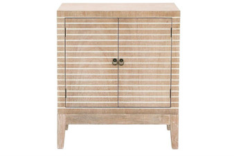 Whitewashed  Brown Wood Cabinet