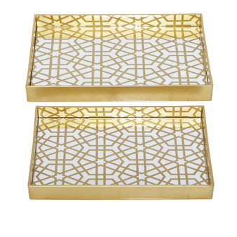 Gold & Mirror Trays (Set of 2)