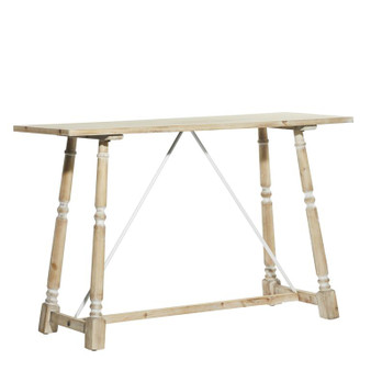 Whitewashed Wood Console Table