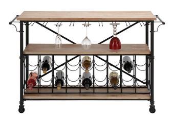 Metal & Wood Wine Rack