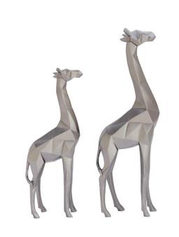 Silver Giraffes (Set of 2)
