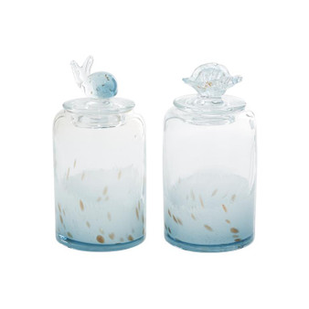 Coastal Glass Jars (Set of 2)