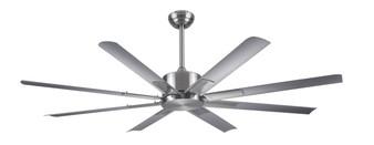 """Newcastle 60"""" Ceiling Fan in Brushed Nickel"""