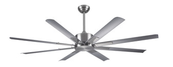 """Newcastle 72"""" Ceiling Fan in Brushed Nickel"""