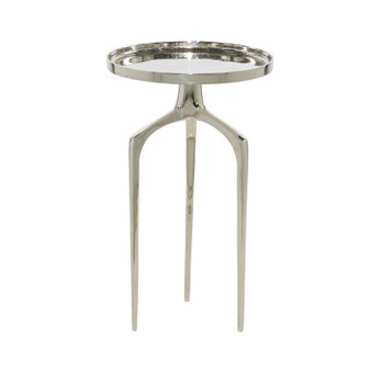 "13"" Silver Aluminium Side Table"