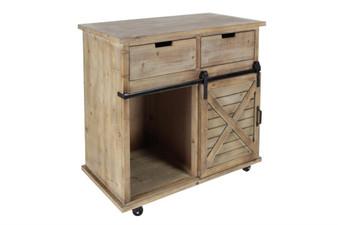 Farmhouse Wood Wine Cabinet