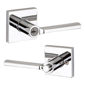Lisbon Entry Lock in Polished Chrome