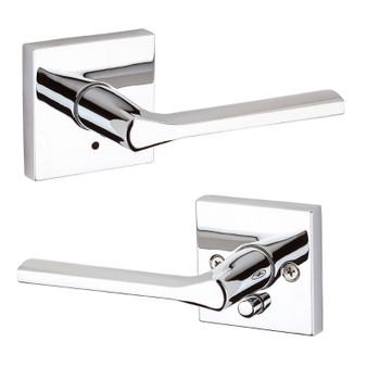 Lisbon Privacy Lock in Polished Chrome