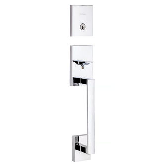 San Clemente Handleset Lock in Polished Chrome