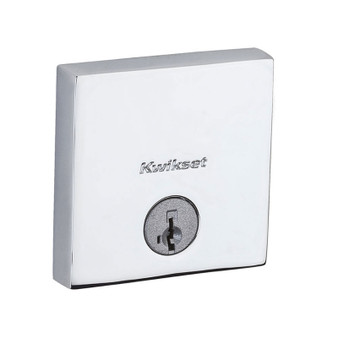 Downtown Square Deadbolt in Polished Chrome