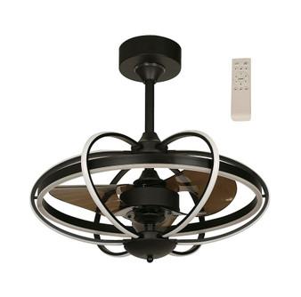 """LED 22"""" Inverter Ceiling Fan in Black"""