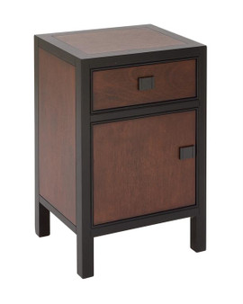 Dark Brown Wood Cabinet