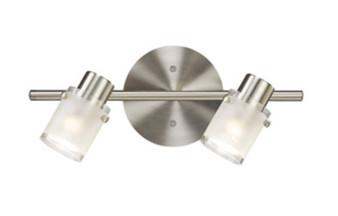 2 Light Wall Light in Brushed Nickel
