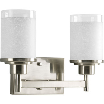 2 Light Wall Light in Brushed Nickel (SW8936)
