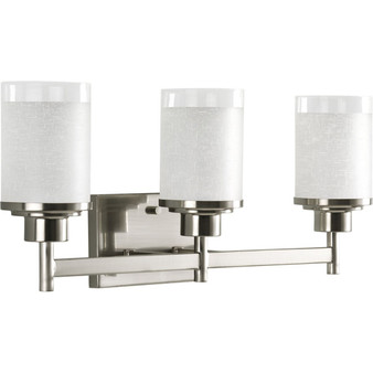 3 Light Wall Light in Brushed Nickel (SW8936)