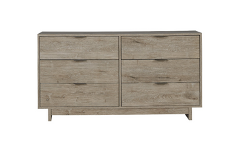 Oliah Dresser-6 Drawers in Natural