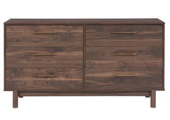 Calverson Dresser-6 Drawers in Mocha