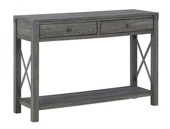Freedan Console/Sofa Table in Greyish Brown