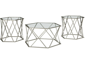 Madanere Occasional Table SET in Chrome