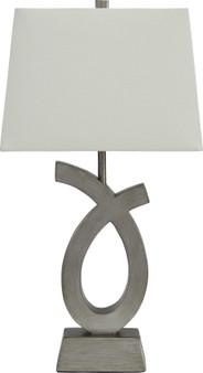 Amayeta  2pc Table Lamp Set in Silver