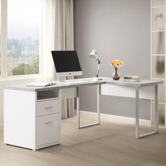 """78"""" Computer Desk in White"""