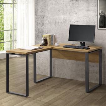 2pc L-Shaped Desk in Golden Oak
