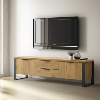 "60"" TV Console in Golden Oak"