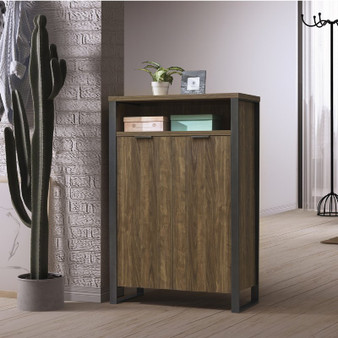 """35"""" Shoes Cabinet in Aged Walnut"""