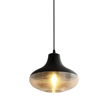 SP5571-Pendant Light in Black/Clear