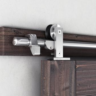 #FYS01 Sliding Barn Door Hardware In Satin Nickel