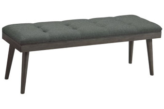 Ashlock Accent Bench in Charcoal and Brown