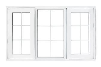 "60""x 36"" UPVC Casement Window with Grids"