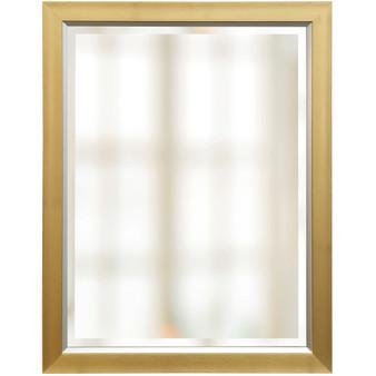 Gold Finish Beveled Mirror (1261)