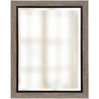 Wood Finish Beveled Mirror (1263)