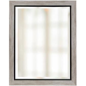 Wood Finish Beveled Mirror (1265)