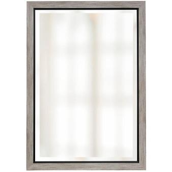 Wood Finish Beveled Mirror (1266)