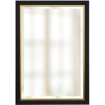 Black and Gold Finish Beveled Mirror (1268)