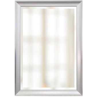 White Finish Beveled Mirror (1269)