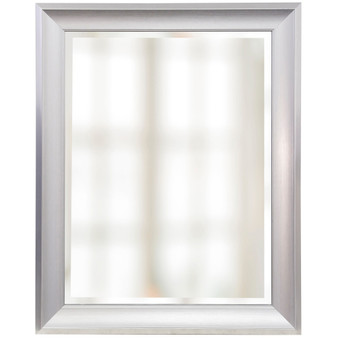 White Finish Beveled Mirror (1270)
