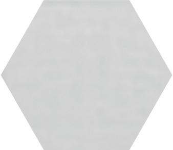 """Pris Shiny Silver 8""""x 9"""" Porcelain Hex Tile"""