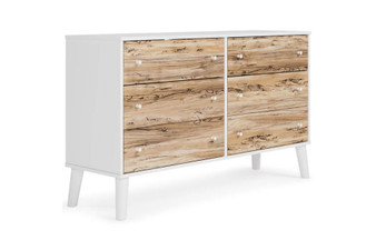 Piperton 6 Drawer Dresser in Two Toned
