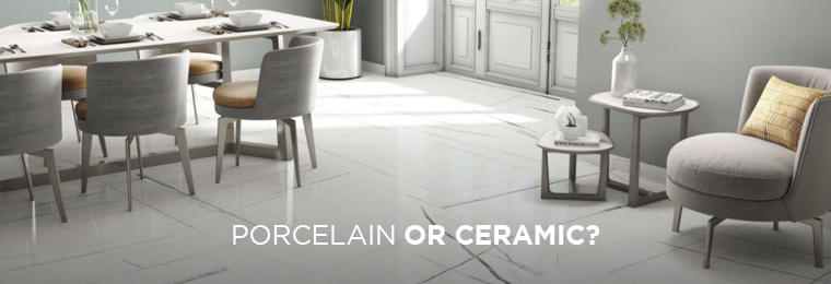 Tiles are building materials that are known for their durability and moisture resistance. The two most common types of tiles are ceramic and porcelain tiles, and each one has different uses based on their strengths and weaknesses.