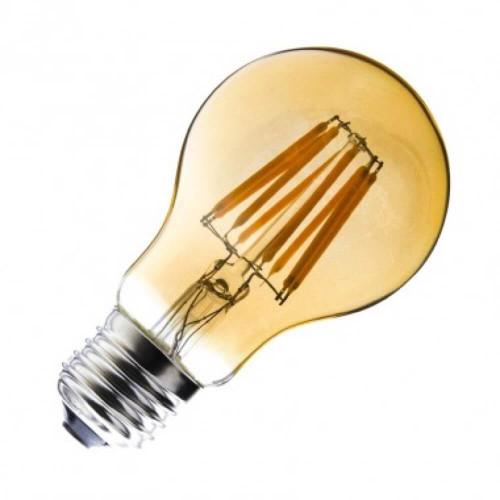 Lampadina led Gold a filamento G60 6W E27 dimmerabile