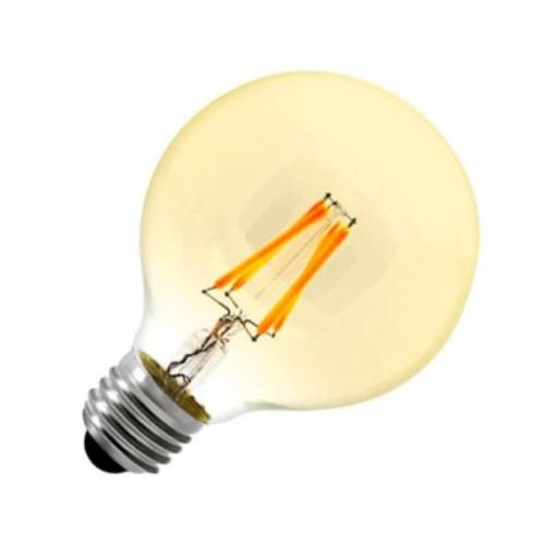 Lampadina led gold a filamento G80 6W E27 dimmerabile