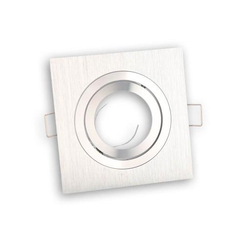 Portafaretto incasso quadrato alluminio satinato