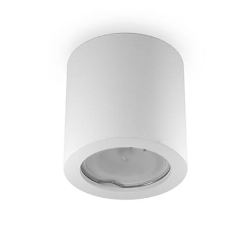 Lampada a cilindro da soffitto in gesso